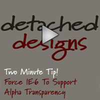 Force IE6 To Display Alpha Transparency