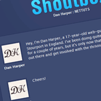 Shoutbox with PHP