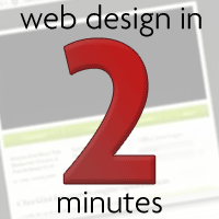 Web Design in Two Minutes