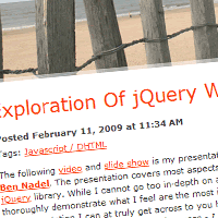 An Intensive Exploration Of jQuery