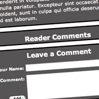 Comments with jQuery and JSON