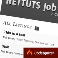 Create a Jobs Board With CodeIgniter: New Plus Tutorial