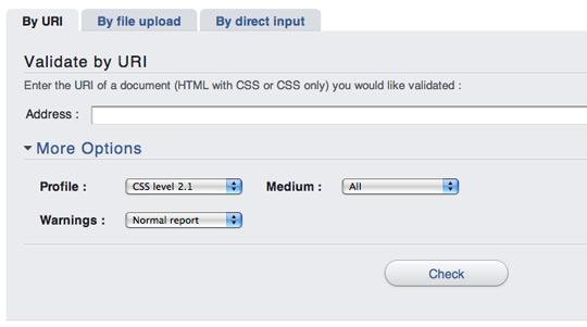 W3C CSS Validation