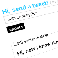 How to Update your Twitter with CodeIgniter