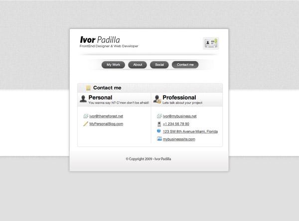 vCard Professional Portfolio