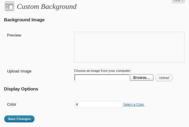 Background selection interface.