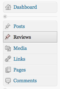 our new wordpress menu with our post type