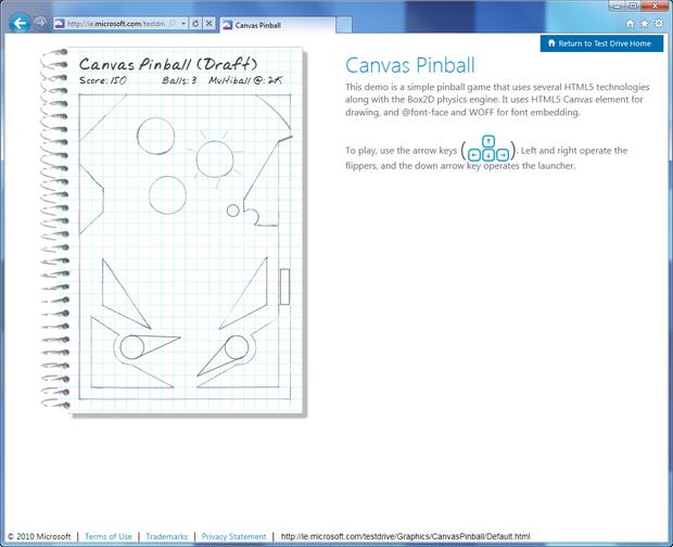 HTML5 Pinball Demo